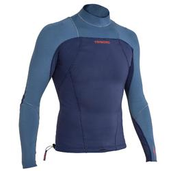 UV-Shirt langarm Neopren 900 Herren blau