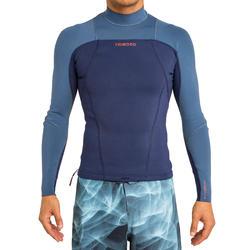 Neopreen surftop 900 met lange mouwen voor heren blauw - 166677