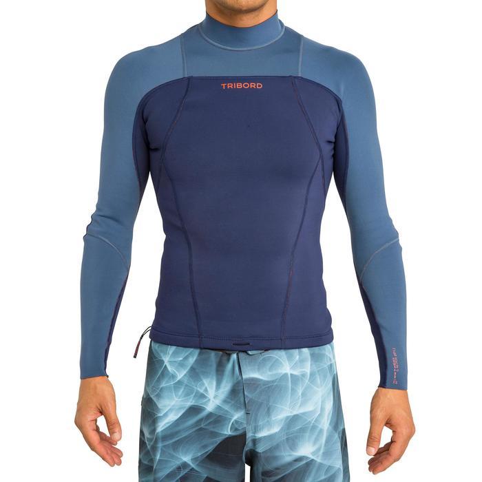 Neopreen surftop 900 met lange mouwen voor heren blauw