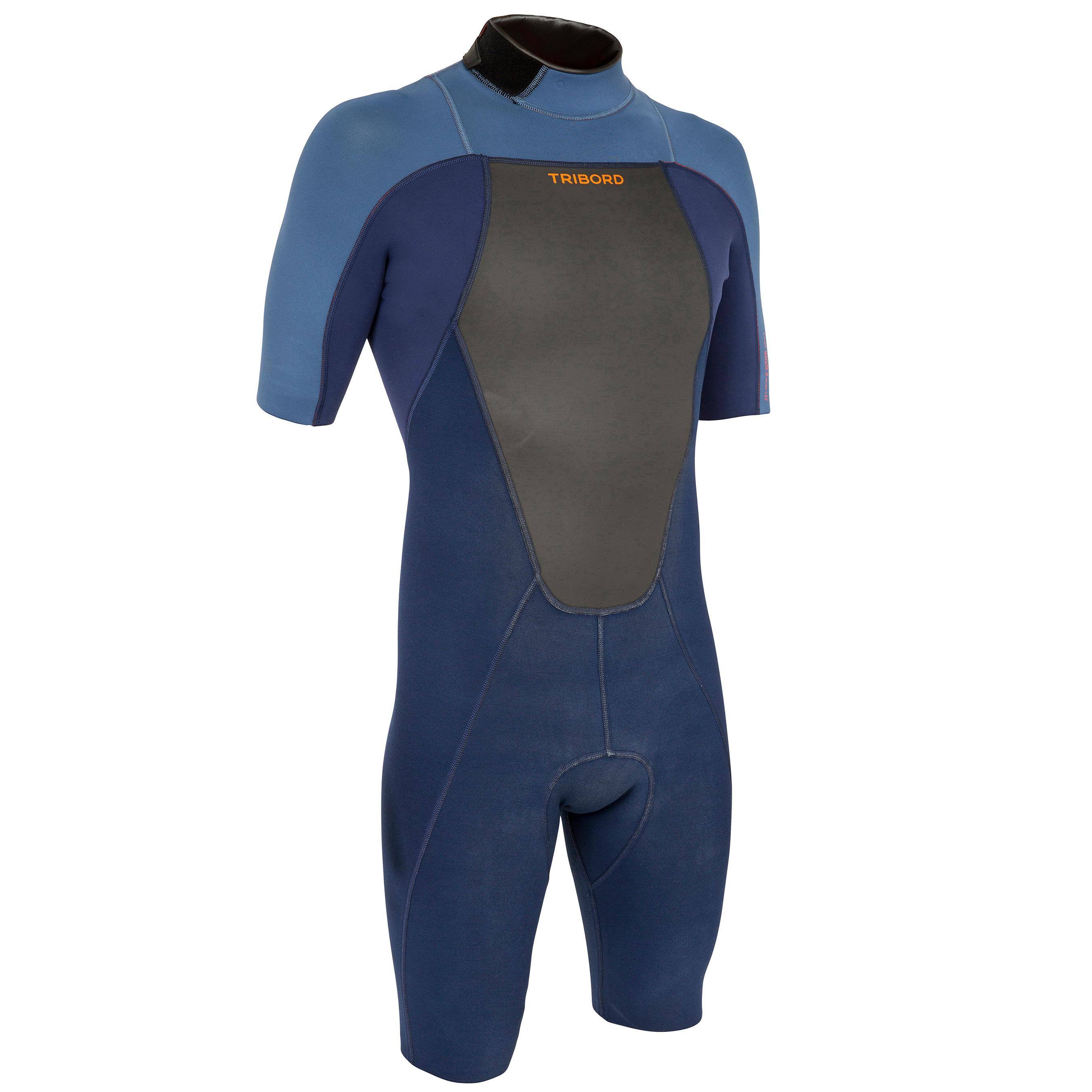TRAJE DE SURF 500 Hombre Azul neopreno 2 mm