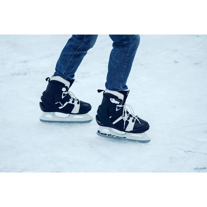 Patins à glace FIT 3 homme noir blanc