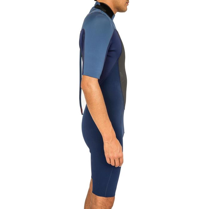Traje Surf SHORTY 500 Neopreno 2 mm Hombre Azul