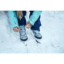 Schaatsen voor kinderen FIT100 grijs/turquoise