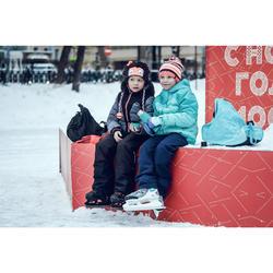 Schaatsen voor kinderen FIT100 zwart/oranje