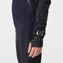 Hardloopjack voor heren Kiprun Warm Regul blauw zwart