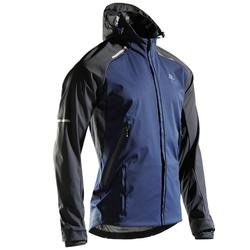 男款跑步外套Kiprun Warm Regul - 藍色黑色