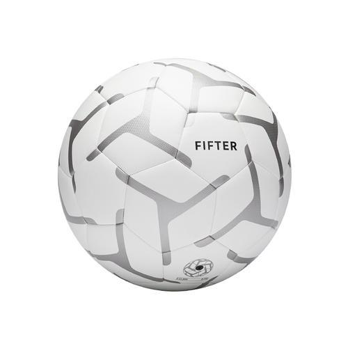 ballon de foot a 5 society 100 taille 4 blanc / gris