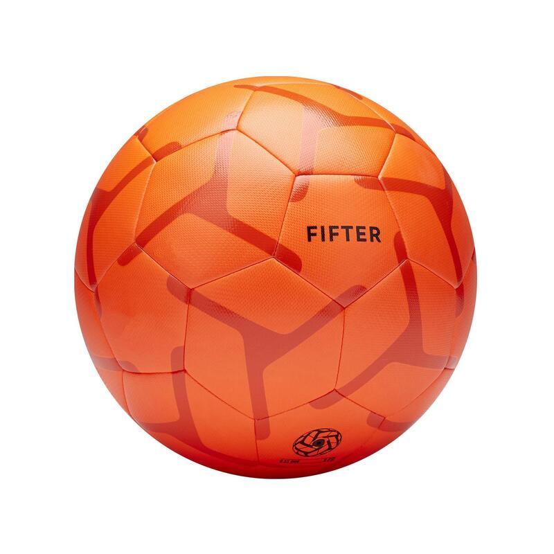 Ballon de Foot5 Society 100 taille 5 Orange / Rouge