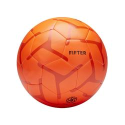 Balón de Fútbol 5 Fifter Society 100 talla 5 naranja rojo