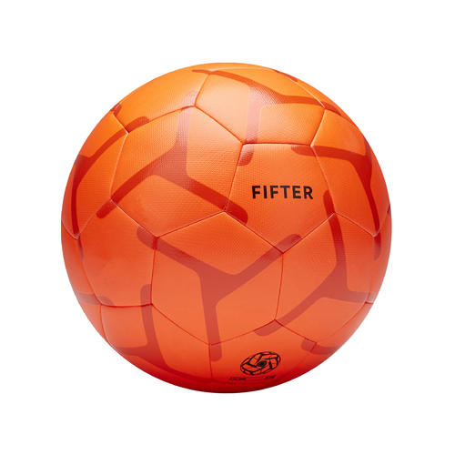 Ballon de Foot5 Society 100 taille 5 Orange / Rouge