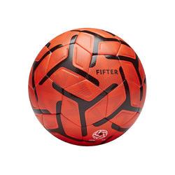 Voetbal voor 5 a side Society 500 maat 4 oranje/zwart