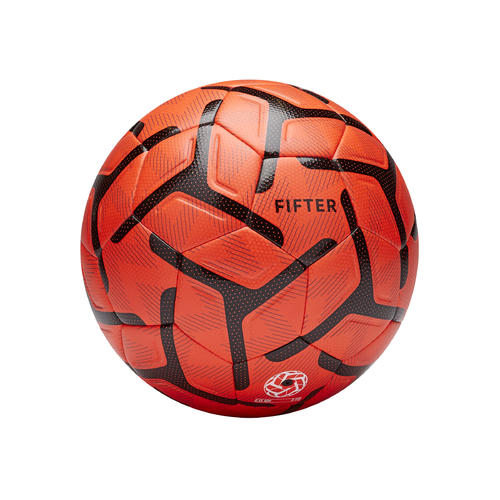 Ballon de Foot5 Society 500 taille 4 Orange / Noir