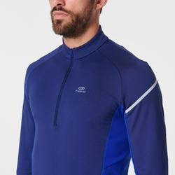 Hardloopshirt met lange mouwen voor heren Kiprun Warm Light blauw