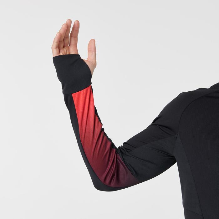 Laufshirt Langarm Kiprun Warm Light Herren rot/schwarz