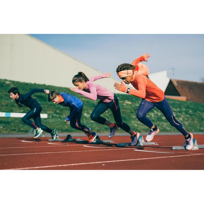 Maillot manches longues Athlétisme enfant KIPRUN chaud corail et rouge
