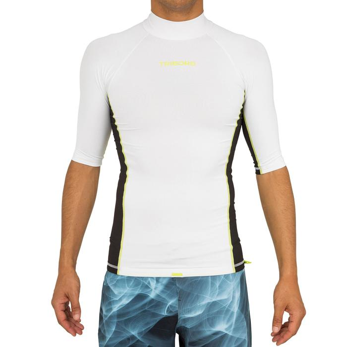 tee shirt anti uv surf top 500 manches courtes homme - 166733