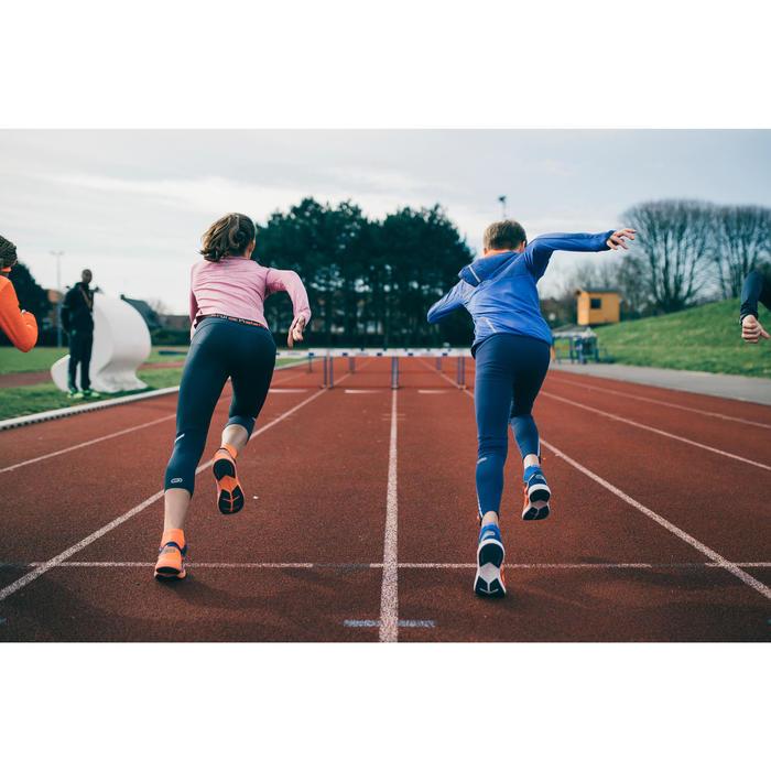 Collant Athlétisme enfant Kiprun bleu rouge