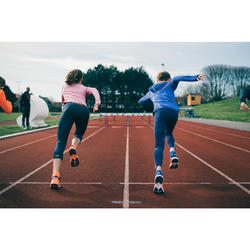 Maillot manches longues athlétisme skincare rose fille