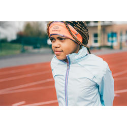 Veste pluie Athlétisme fille bleu banquise