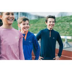 Atletiekshirt met lange mouwen voor kinderen Essential grijs