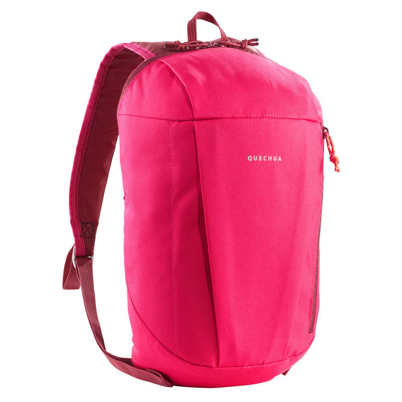 10L TO 30L NATURE HIKING BACKPACKS Hiking - NH100 10L Backpack - Light Pink QUECHUA - Hiking Backpacks and Bags