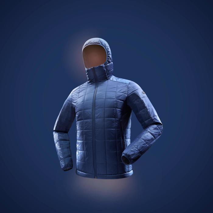 Gewatteerde jas heren Trek 100 blauw