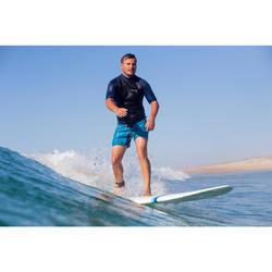 Thermo-Shirt kurzarm Neopren-Top Surfen Fleece Herren schwarz/blau