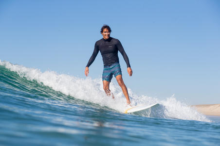 500 Short Surfing Boardshorts - Blue Lines