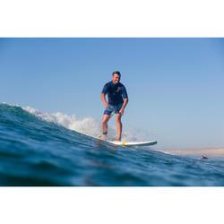 """Bañador Corto Surf Olaian 500 Floralmix Hombre Azul Menta 18"""""""