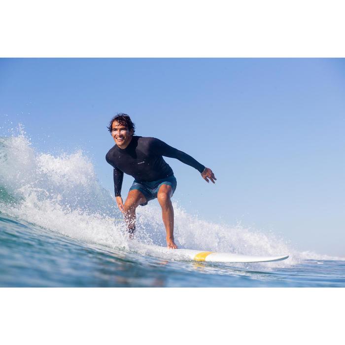900 Men's Long Sleeve Thermal Fleece UV Protection Surfing Top T-Shirt - Black