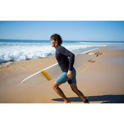 Kurze Boardshorts Surfen 500 Lines Herren blau/grau