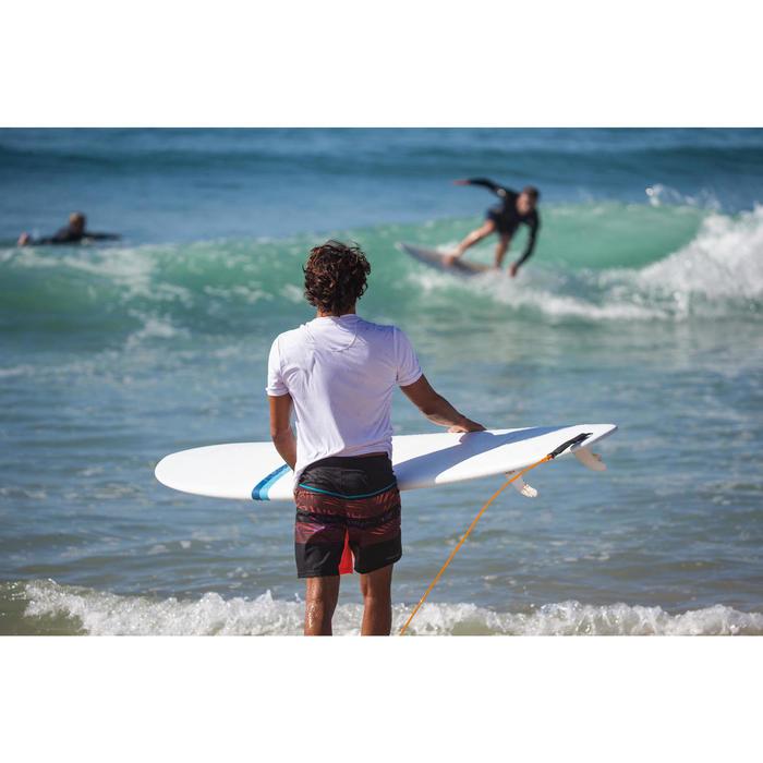 "Bañador Corto Surf Olaian 500 Floralmix Hombre Rojo Negro Naranja 18"""