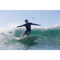Korte surf boardshort 500 Lines blauw