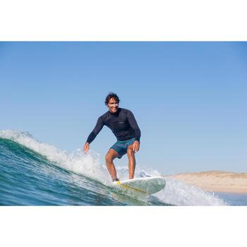 Uv-werende thermische rashguard met lange mouwen voor surfen heren 900 zwart