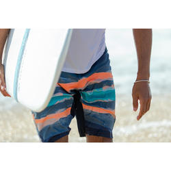 Lange Boardshorts Surfen 500 Paint Block rot