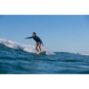 Kurze Boardshorts Surfen 500 Lines schwarz