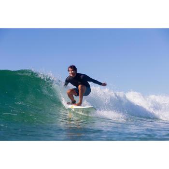 Tee shirt surf thermique 900 polaire Manches Longues Homme Noir