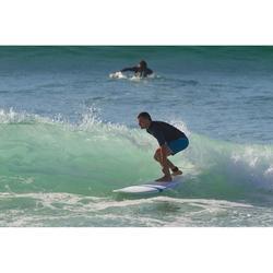 Top Camiseta Protección Solar Playa Surf Olaian Hombre Negro Azul Turquí ANTI-UV