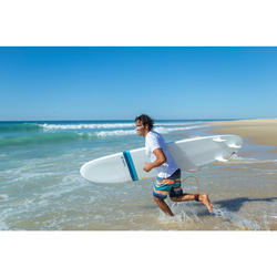 Uv-werend zwemshirt met korte mouwen voor heren, voor surfen, wit