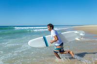 tee-shirt pour sports nautiques anti-UV surf manches courtes homme blanc