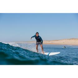 """Bañador Corto Surf Olaian 500 Lines Hombre Negro Gris 16"""""""