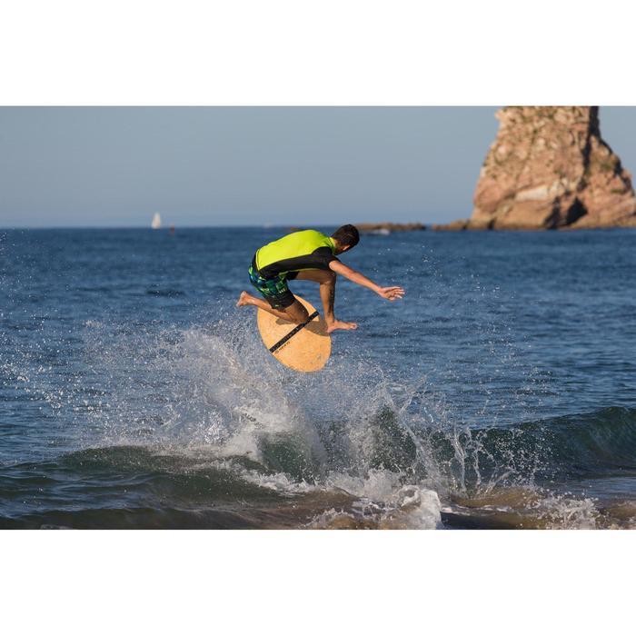Klassieke boardshort 500 Tropicsquare groen