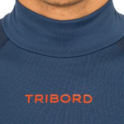 Thermische en uv-werende rashguard 900 met lange mouwen voor heren blauw - 166774