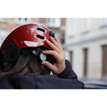 Fahrradhelm City 500 rot