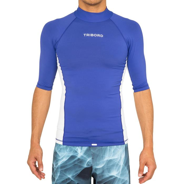 tee shirt anti uv surf top 500 manches courtes homme - 166793