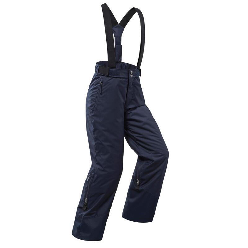 Warme en waterdichte skibroek voor kinderen PNF 500 marineblauw