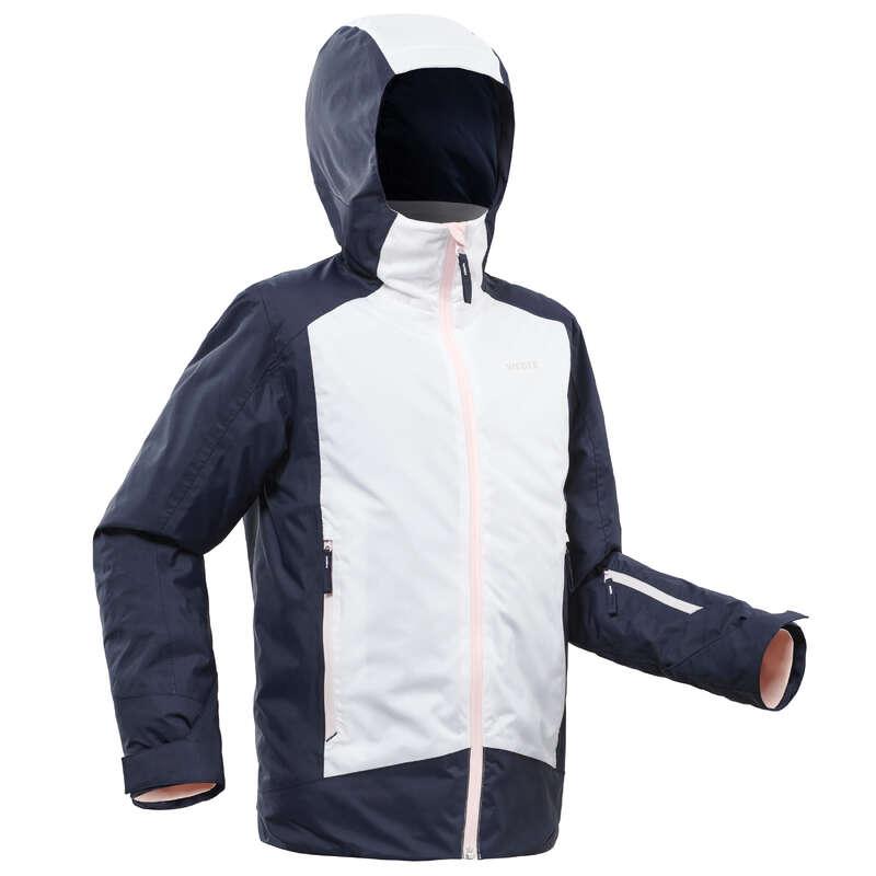GIRL INTERMEDIATE ON PIST SKIING CLOTHS Clothing - JR D-Ski Jacket 500 - WHITE WEDZE - Coats and Jackets