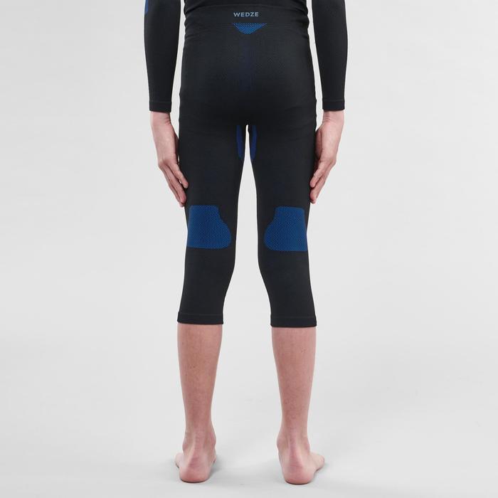 兒童滑雪底層長褲580 I-Band - 黑色/藍色