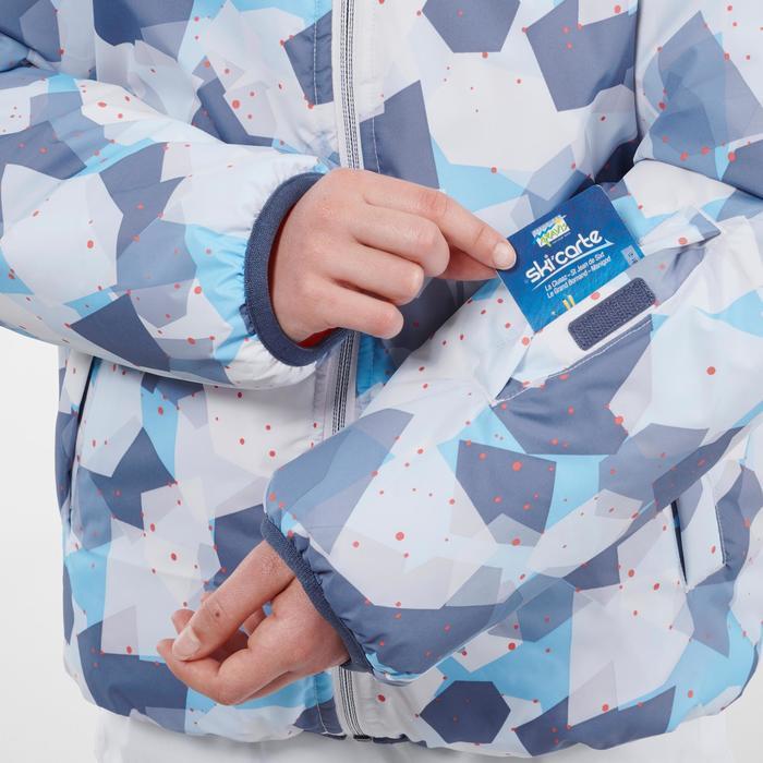 VESTE DE SKI ENFANT WARM REVERSE 100 CORAIL ET BLEUE
