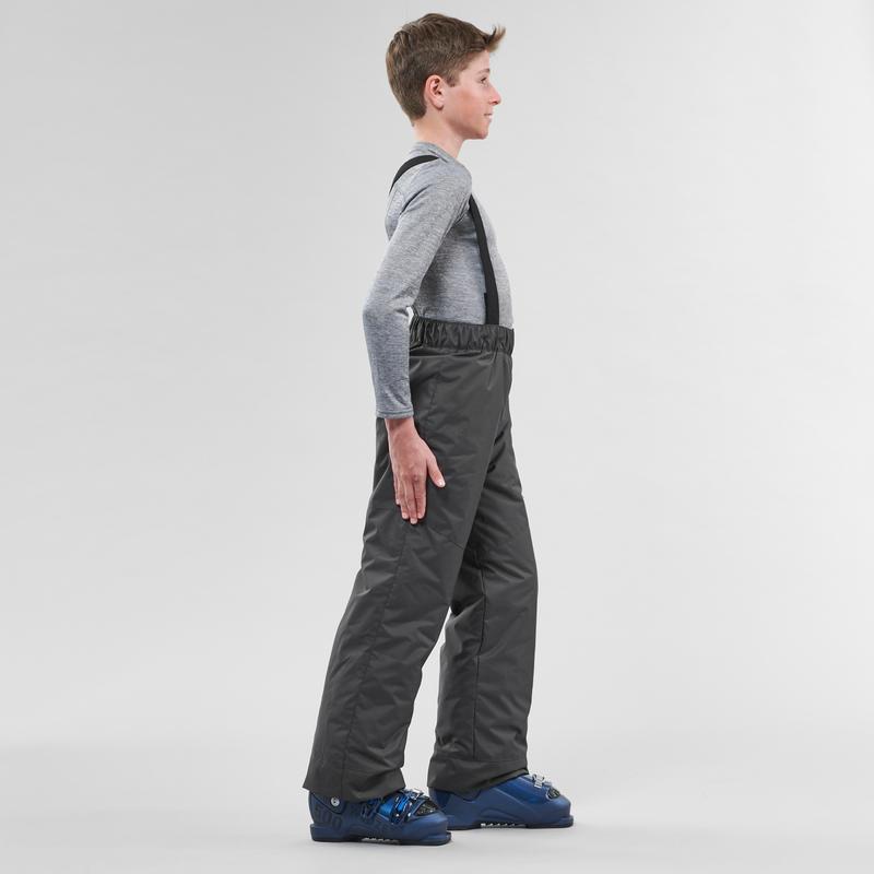 Kids' Ski Trousers 100 - Grey